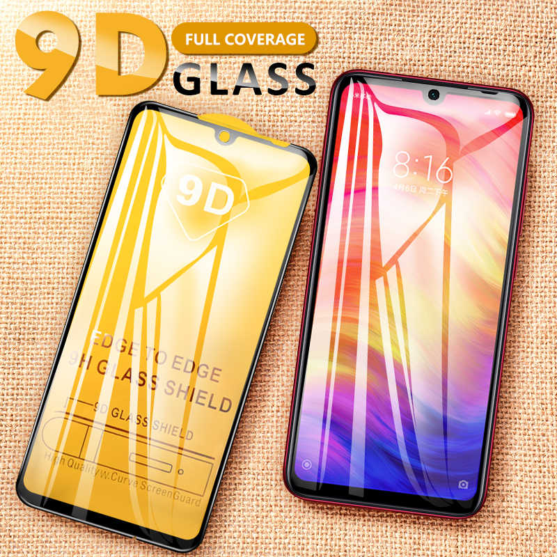 9D Tempered Glass For Xiaomi Redmi Note 8 7 6 Pro Screen Protector Cover For Redmi Mi 7 6 6A 7A K20 9T Pro Protective Glass Film