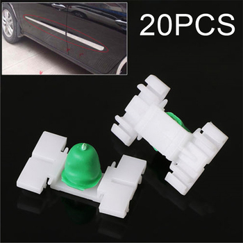 20*Door Car Clips Side Skirt Molding With Rubber Replace For BMW E36 E46 Plastic image