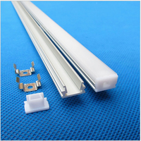 10 40pcs 2m ,80inch/pc 8mm wide 12V 24V Strip U style under Cabinet kitchen led profile, matte diffuser slim aluminium channel