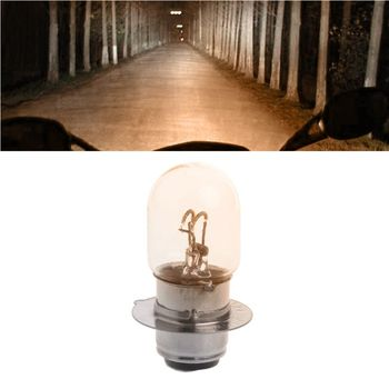 T19 P15D-25-1 DC 12V 35W White Headlight Double Filament Bulb For Motorcycle R2LC image