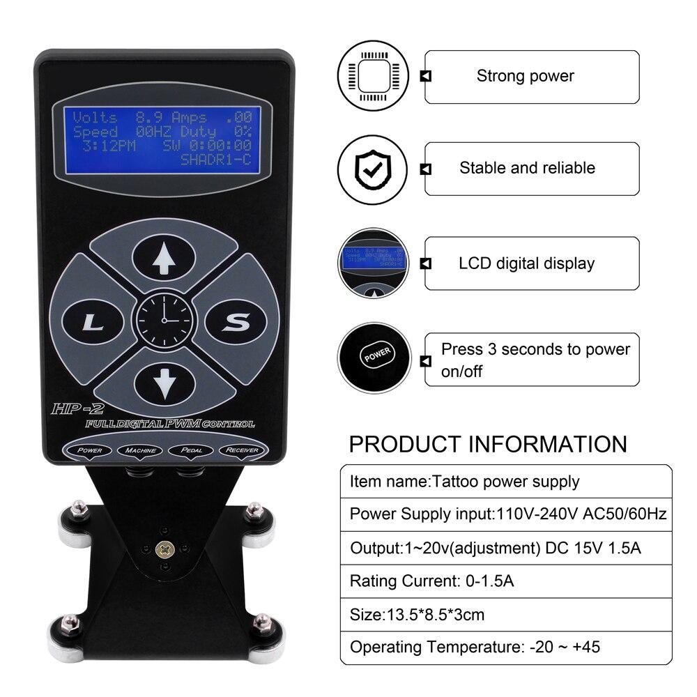 power display lcd fonte eletrica preta para maquina kits 02