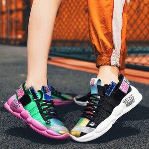 Image 5 - קלאסי מעופף ארוג מגמת גברים של נעליים יומיומיות קל משקל נוח ריפוד נעלי ריצה גבוהה אלסטי החלקה ללבוש נעליים
