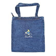 8PCS / LOT Women Shopping Bag Eco Reusable Tote Pouch Korean Casual Female Large Capacity Shoulder Denim Bag сумка the growing real selvedge denim eco bag