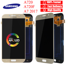 5,7 AMOLED Display Ersatz Teile Für Samsung Galaxy A7 LCD A720M A720Y A720F A720FD A720 Touchscreen Digitizer Montage