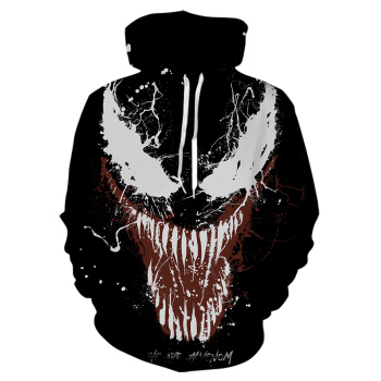 Cosplay anime Hoodies for Movie Venom sweatshirt Men Women 3D printed  hoodie Band Men's Long Sleeve Streetwear Jacket 2