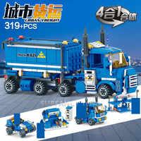 319Pcs 4IN1 City Urban Fracht Lkw legoinglys Bausteine Sets Ziegel Playmobil Pädagogisches Spielzeug für Kinder legoinglys