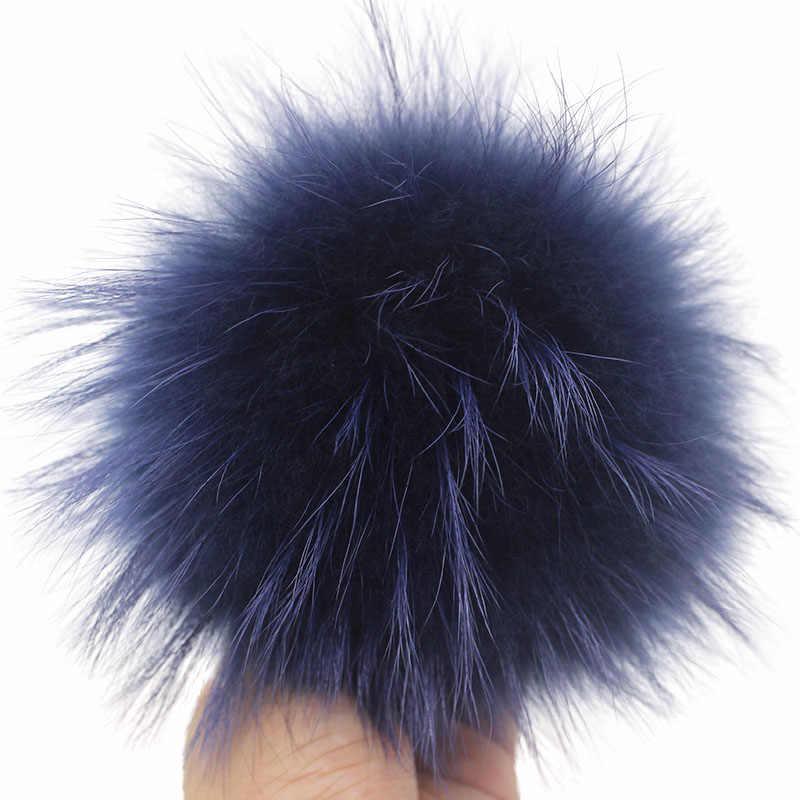 2 ピース/ロット毛皮アライグマポンポン 15 センチメートル大巨大な毛皮ポンポンリアルファーポンポンピンクの Pompom 帽子ビーニースカーフ 25 色