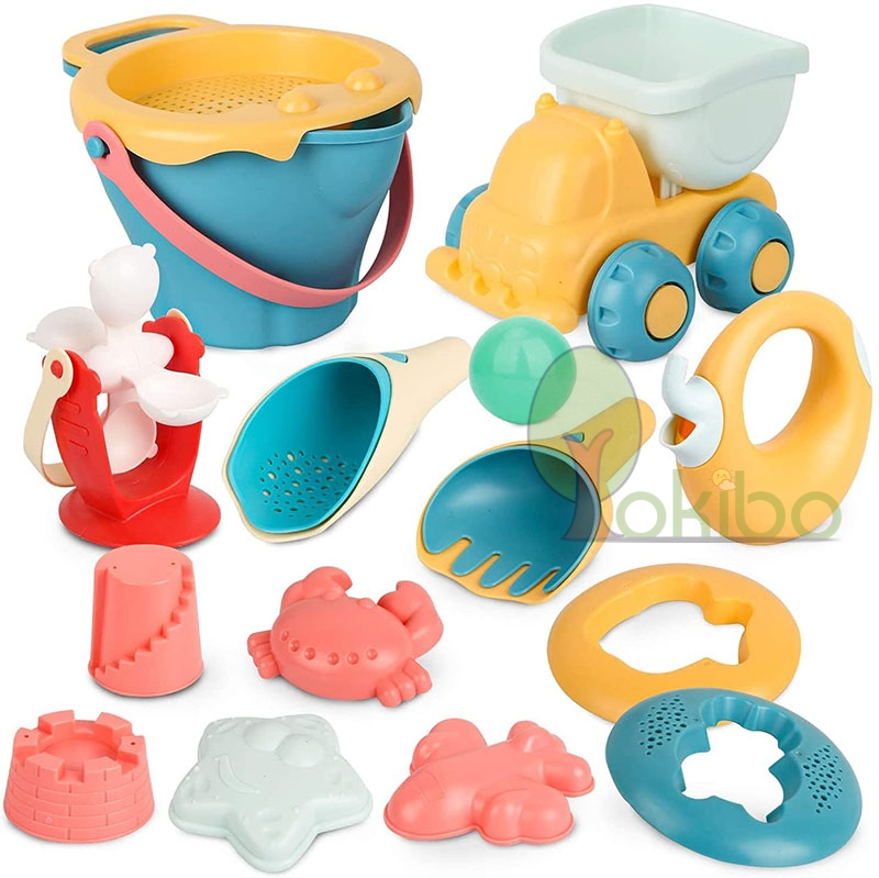 Soft Baby Beach Toys For Kids Beach Games Toys Children Sandbox Set Kit Toys Summer Toy for Beach Play Sand Water Game Play Cart