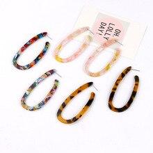Za 2020 Bohemia Multicolor Acrylic Drop Earring for Women Long Statement Dangle Earrings Tortoiseshell Leopard Earrings Jewelry
