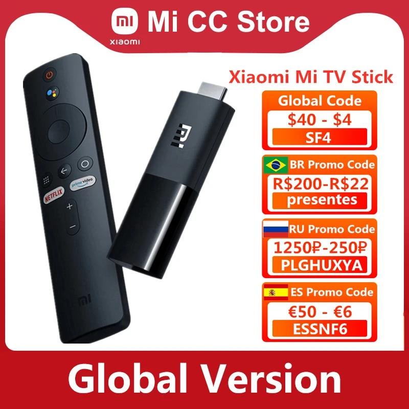 Global Version Xiaomi Mi TV Stick Android TV 9.0 HDR 1GB RAM 8GB ROM Bluetooth-compatible 4.2 Mini TV Dongle Wifi Google Assist