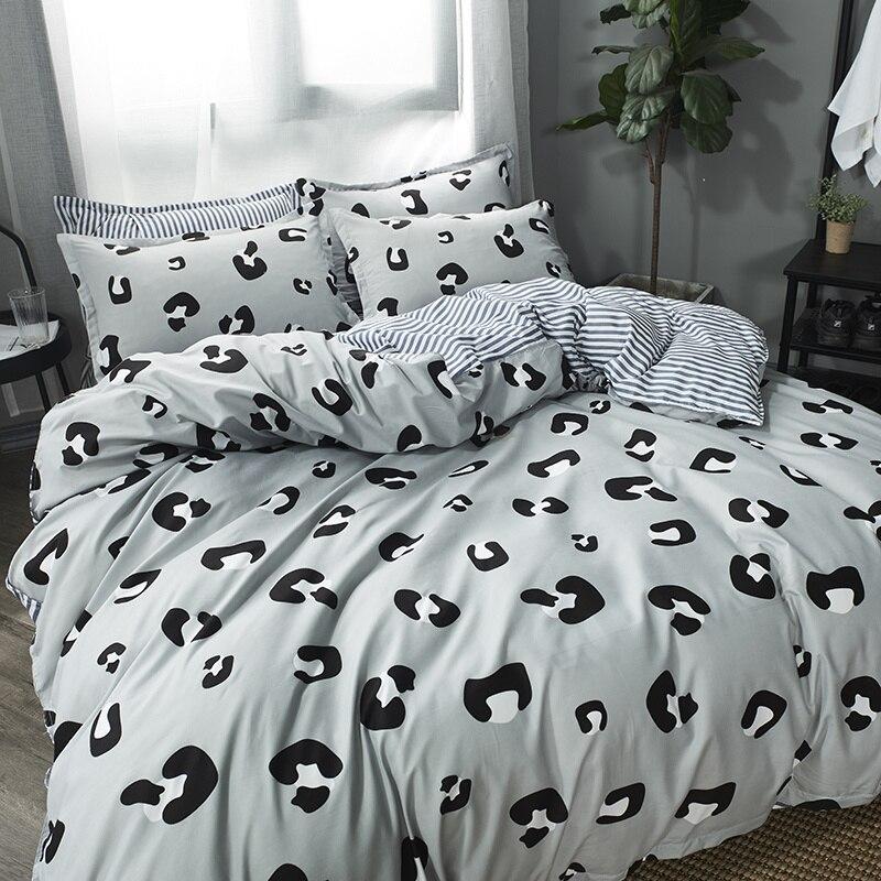 Leopard Bedding Set Printing  Bed Line Bed Sheets Pillowcases Duvet Cover 3PCS/4PCS