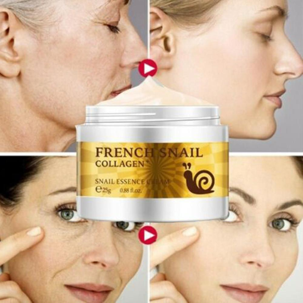 25g Health Snail Cream Hyaluronic Acid Moisturizer Anti Wrinkle Anti Aging Nourishing Serum Collagen Day Cream Skin Care