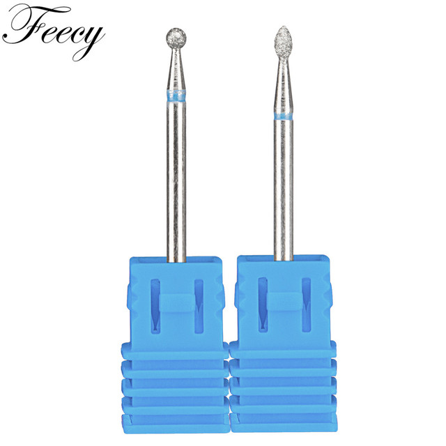 2pcs/Lot Diamond Milling Cutter for Manicure Burrs Pedicure Nail Drill Bits Accessories Nozzles for Manicure Cutters Nail Files 4