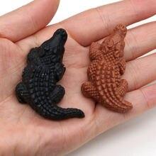 Натуральный Полудрагоценный камень украшения в форме крокодила