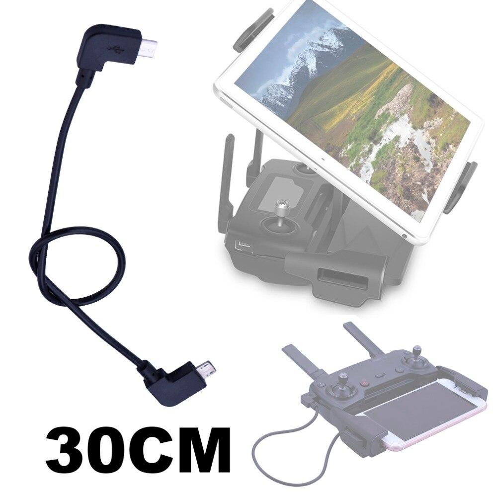 30 ซม.ข้อมูล OTG CABLE สำหรับ DJI Mavic Pro Air Spark Mavic 2 ซูม Drone IOS Type-C Micro -USB อะแดปเตอร์สำหรับแท็บเล็ตโทรศัพท์