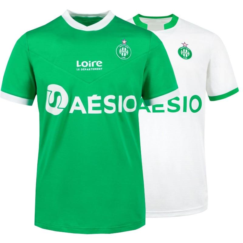 Les Verts 2020-21 fans футболка из Джерси Зеленый Белый по индивидуальному заказу как Saint Etienne Khazri saluba St Etienne