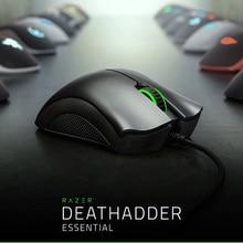 Razer DeathAdder חיוני ארגונומי מקצועי כיתה משחקי עכבר 6400 DPI חיישן אופטי גיימר עבור מחשב מחשב נייד מחשב עכברים