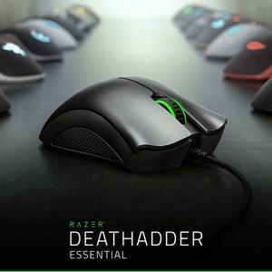 Image 1 - Razer ratón ergonómico para videojuegos DeathAdder Essential, Sensor óptico de 6400 DPI, para ordenador, portátil, PC, Mices