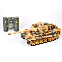 1:28 2.4G RC Tank Germany Tiger 103 Fighting Battle Remote Control Toys with Musical Flashing for Child Kids Boy