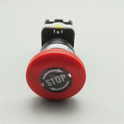 1pcs Emergency Stop 10A 380V 22mm Self-Locking head power switch Mushroom Push Button Switch 1 NO 1 NC LA38-11ZS