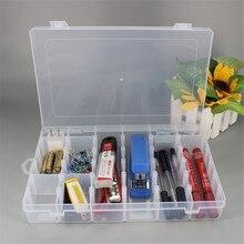 24-36 Grid Detachable Plastic Storage Box Stationery Storage Box Sticker Pencil Box Jewelry Storage Box Desk Desk Sorting Box