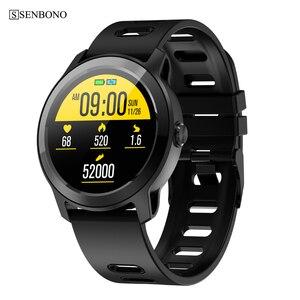Image 1 - SENBONO S08Plus IP68 עמיד למים גשש כושר קצב לב צג Bluetooth smartwatch גברים נשים ספורט חכם להקה