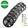 DC 12V RGB светодиодный светильник, не водонепроницаемый, 1M 2M 3M 4M 5M светодиодный светильник, 60 Светодиодный Диодная лента s/m SMD 2835, гибкая лента RGB