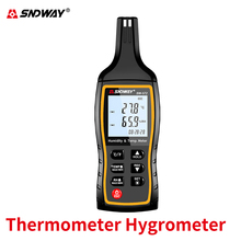 Sndway Professional Digital Thermometer Hygrometer High Accuracy Termometro Humidity Meter Fast/easy Monitor Temperature Meter