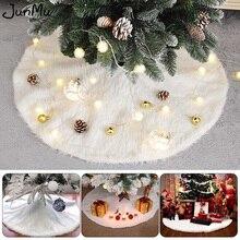 Белая юбка на рождественскую елку, 48 дюймов, искусственная меховая елка, украшения для праздника и Рождества