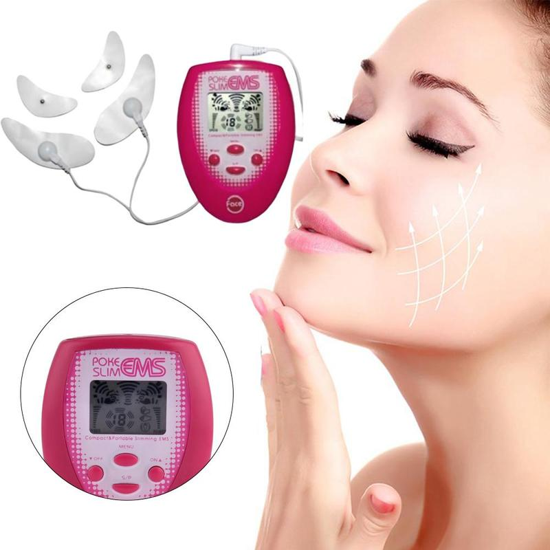 Facial Electronic Instrument Beauty Machine Weight Loss Slimming Device Healthy Massager Health Face Body Care Machine Red New