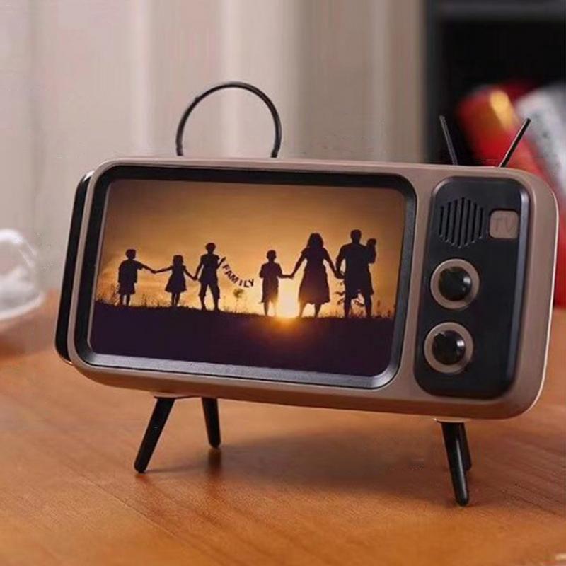 Wireless Speaker Mobile-Phone-Holder Audio Retro Outdoor Mini Portable Bluetooth Tv-Style