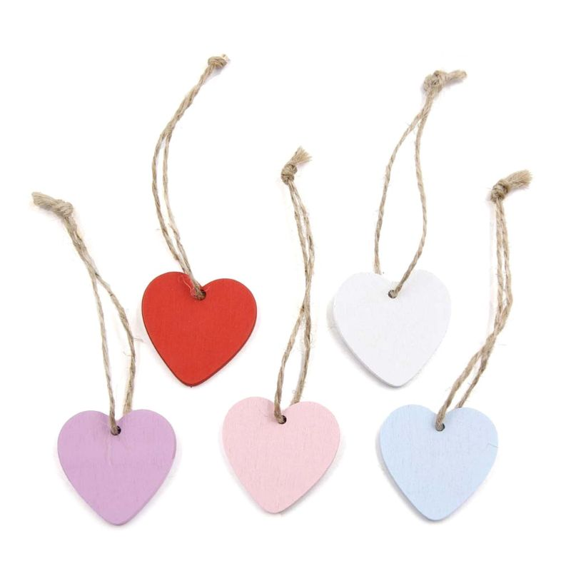 10pcs Vintage Mixed Wooden Tags Gift Labels Pendents Hangers DIY Accessories