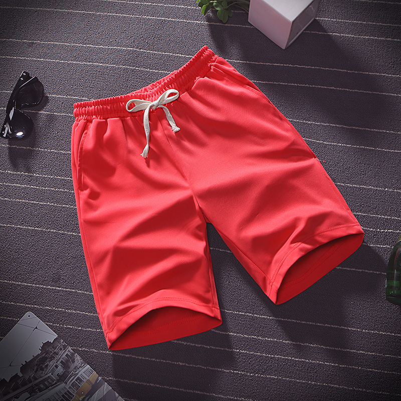 Summer thin ice silk five minute pants men wear loose sports casual shorts pyjama pants beach pants home big pants 4