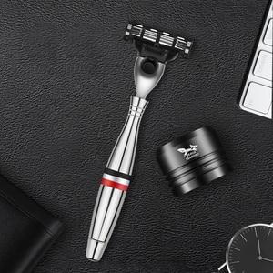 Image 2 - Mens Safety Razor Blades Face care Shaving blades Manual shaving Three Layer Blades Razor for Men Shaving Straight Razor