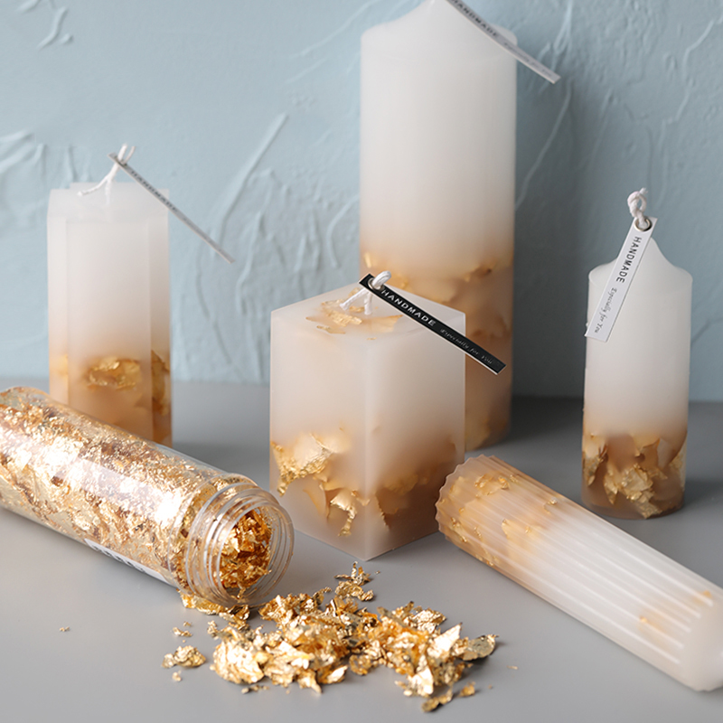 Candle Gold Foil Candle Decoration Scented Candle DIY Material Paraffin Handmade Candle Foils