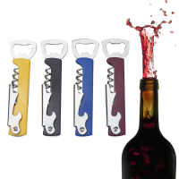 Professional Stainless Steel Wine Opener PP Plastic Handl Screw Corkscrew Double Hinge Waiters Bottle Opener Can Beer Opener