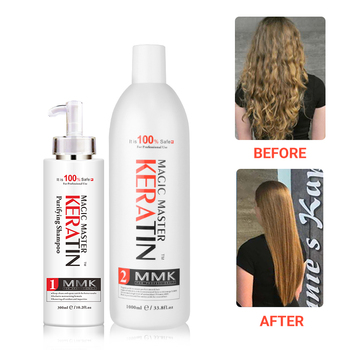 1000ml Nice Smell Without Formalin Brazilian Keratin Treatment +300ml Purifying Shampoo Straighten and Treatment Damage Hair without formalin 1000ml keratin hair repair treatment hair care 300ml purifying shampoo get free gifts