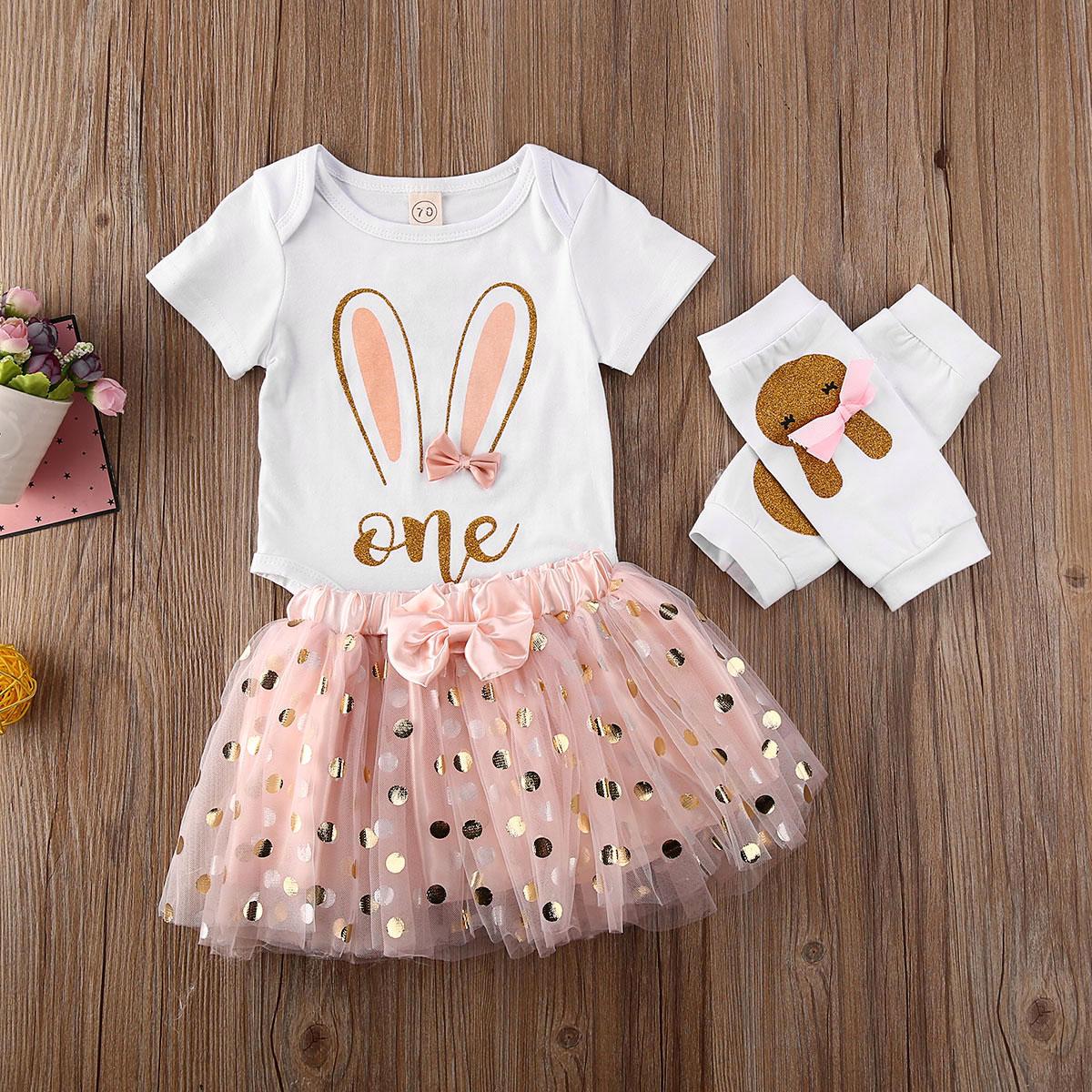 Newborn Toddler Baby Girl Short Sleeve Floral Print Romper Jumpsuit Tulle Tutu Skirt Dress Outfits