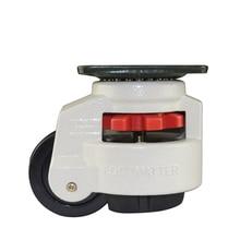 Резиновая ножка 60F Регулировка уровня ног оборудование для тележек ролик 60 кг Грузоподъемность мебель выравнивание ролик мастер Foma колесо