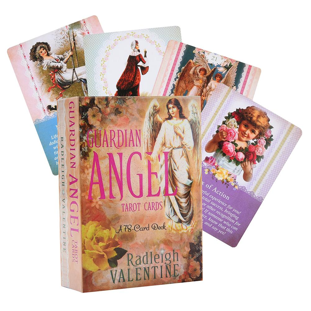 78Pcs/pack Guardian Angel Tarot Cards Full English Outdoor Party Guidance Divination Fate Game Board Oracle Cards Deck