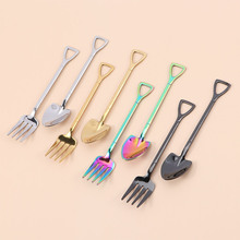 Fork Ice-Cream-Tool Kitchen-Accessories Shovel-Shape Coffee Long-Handle Hot Multi-Color
