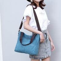 Zipper leisure travel Casual Tote Canvas Women Canvas Handbags Shopping Shoulder Bag Messenger Bags Beach Travel Totes