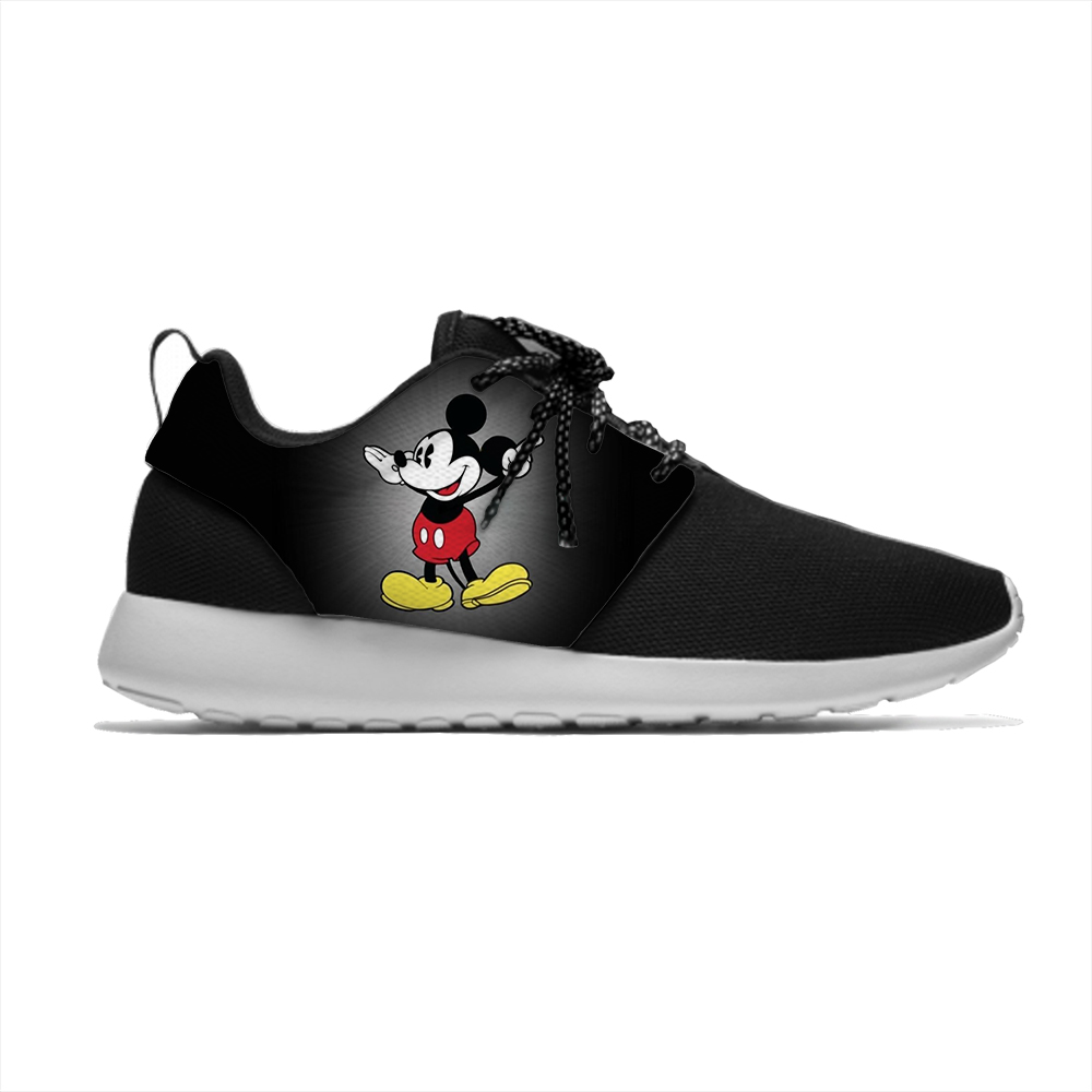 Mouse Cartoon Hot Mickey Minnie Funny Cool Fashion Sport Running Shoes Lightweight Breathable 3D Printed Men Women Mesh Sneakers