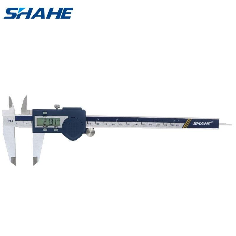 SHAHE Digital Vernier Caliper 200 mm Stainless Steel Paquimetro Digital Micrometro Vernier Calipers Measuring Tools