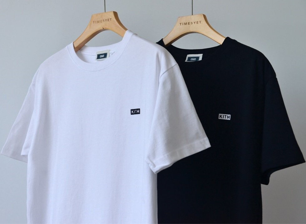 NEW KITH T Shirt Men Women Harajuku Japan Tshirt KITH Top Tees KITH  Summer Flock Classic Logo White T-shirts