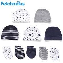 Bebê menino menina chapéu + luvas conjunto inverno quente algodão beanies coisas infantil acessórios fotografia recém-nascidos adereços fetchmous