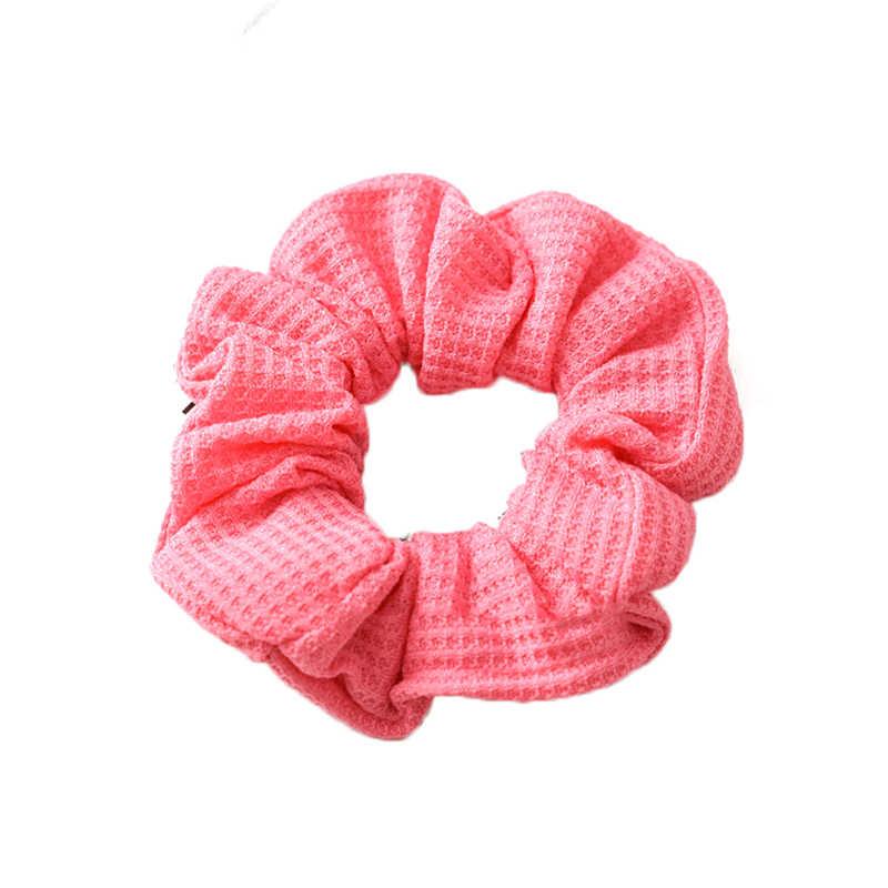 Le donne in cotone a costine elastici per capelli Capelli Legami Banda Anello corde semplici accessori per capelli