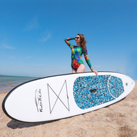 Inflatable Stand Up Paddle Board Sup Board Surfboard Kayak Surf set 10'x30''x4''with Backpack,leash,pump,waterproof bag