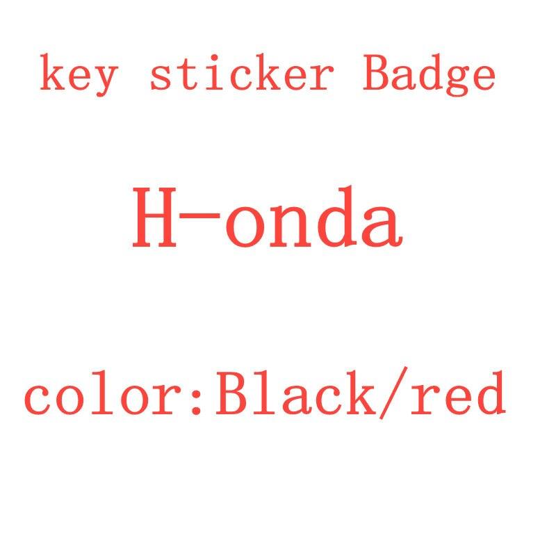 Logotipo da etiqueta do símbolo do emblema do escudo da chave do carro da cor vermelha preta de 20 pces para h-onda