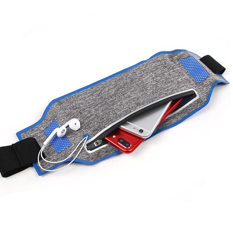 "Mochila de ciclismo bolsas de gimnasio multifunción bolsa para correr LYCRA ultraligero impermeable 6,2 ""teléfono móvil cinturón bolsa de deporte bolsa de Fitness"
